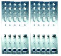 10 Stück Montageanker -  Maueranker für Haus- und Nebeneingangstüren silber für 60er Profile