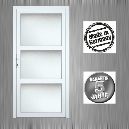 nebeneingangst r haust r terrassent r modell k658p wei ma anfertigung klarglas ebay. Black Bedroom Furniture Sets. Home Design Ideas