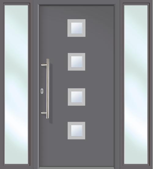Haustüren mit seitenteil anthrazit  Hochwertige Aluminium Haustür anthrazit Modell JWC08 Seitenteile u ...