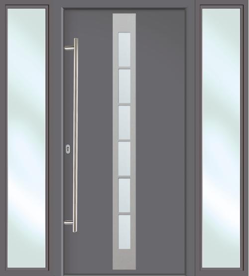 hochwertige aluminium haust r anthrazit titan inklusive 2 seitenteile 178 x 208 ebay. Black Bedroom Furniture Sets. Home Design Ideas