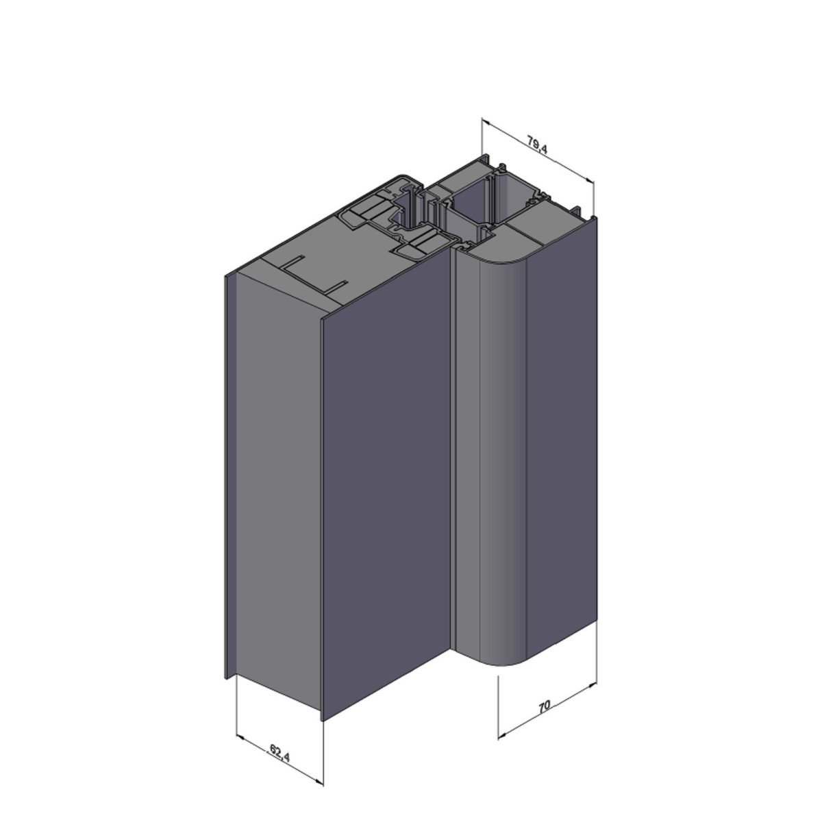 Hochwertige Energiespar Aluminium Haustur Modell Jwc01 Farbe Bei